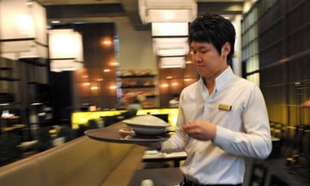 asian young waiter