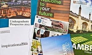 university prospectuses marketing