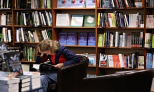 female student in a bookshop at Oxford