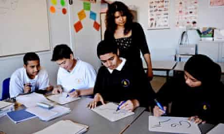 children learning urdu