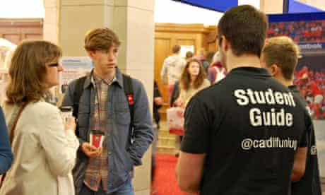 cardiff university open day parent and student