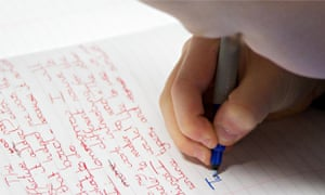 Trouble ahead? Pupils' Sats scripts must be neat so they can be scanned.