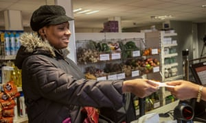 Community Shop in West Norwood, sells bread, fruit, fresh meat, milk, as well as tins and packets
