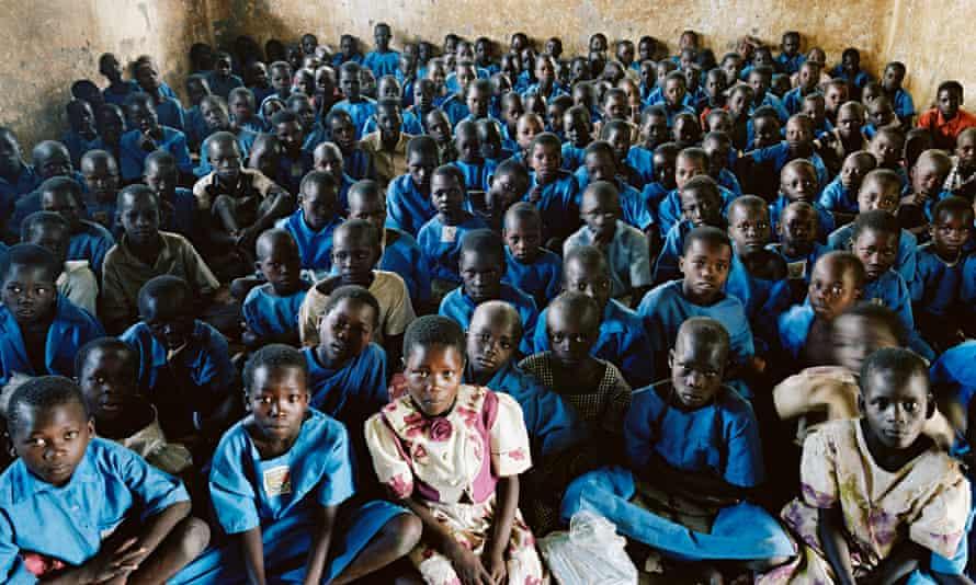 Overcrowded Ugandan Classroom