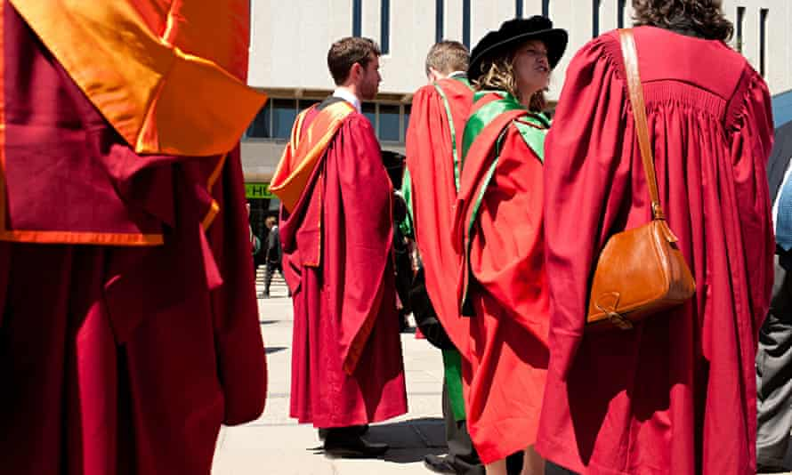 Graduation day for doctoral students at Aberystwyth University