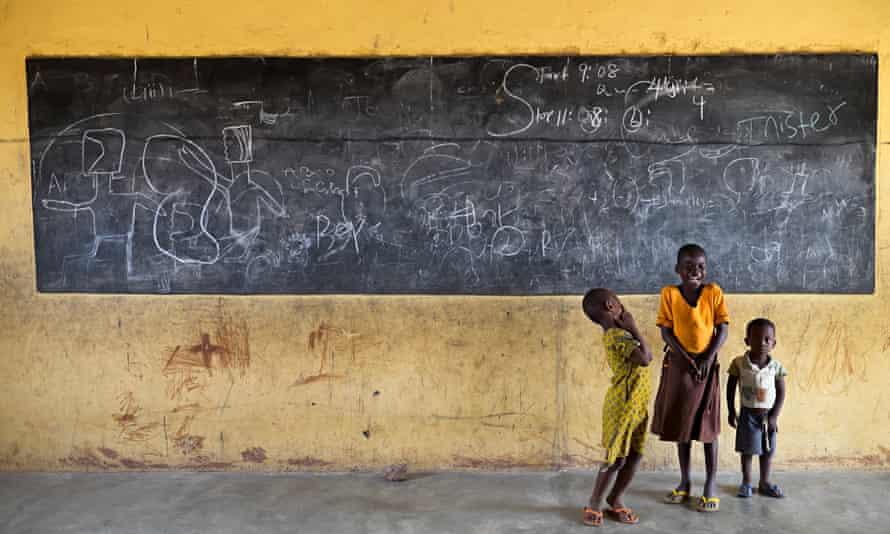 A classroom in Ninkogo primary school, in north-eastern Ghana.