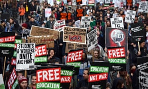 A National Day Of Protest Is Held As Students Demonstrate Over Tuition Fees