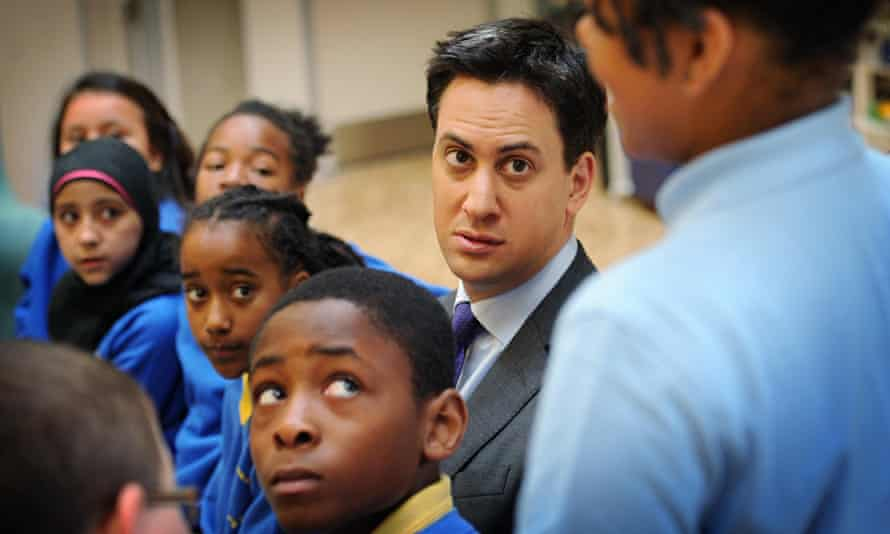 Ed Miliband visit to Michael Faraday School London