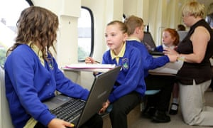Creative Partnerships funded the plane that pupils at Kingsland primary school use as a classroom