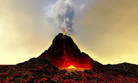 Volcano geography students