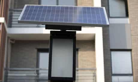 Solar panel in China's Olympic village