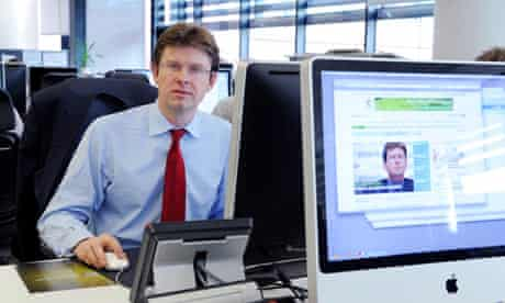 Greg Clark, shadow energy and climate change secretary on the environment desk during live Q&A