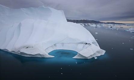 Climate change : An iceberg is seen melting off the coast of Ammasalik, Greenland, Arctic