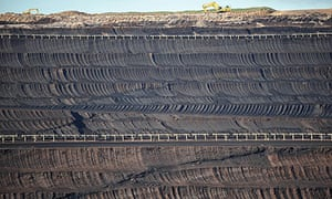 the Loy Yang Open Cut coal mine in the Latrobe Valley, Australia carbon emission