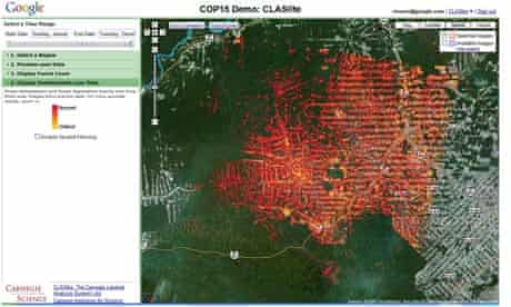 Google announced new technology for forest monitoring at Cop15