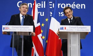 COP15 Gordon Brown and Nicolas Sarkozy address a joint EU news conference in Brussels