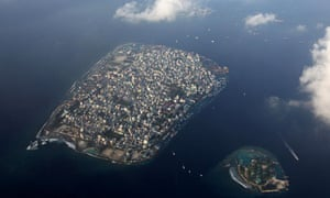 COP15 : An areal view shows Maldives capital Male