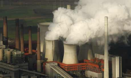 COP15 carbon pollution : cooling towers of a coal power plant, Neurath, Germany