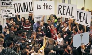 COP15 Activists hold a demonstration in support of Tuvalu at Copenhagen