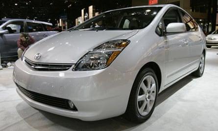 Toyota Prius on display