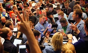 MDG : food commodity speculation :  Traders at the Chicago Board Options Exchange