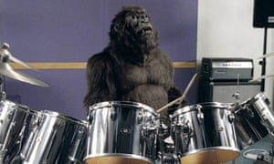 Cadbury Dairy Milk TV advert featuring a gorilla playing the drums - Sept 2007