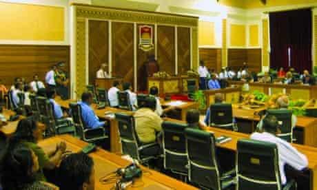 MDG: delagates during the Tarawa Climate Change  Conference , Kiribati