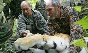 Vladimir Putin and tiger