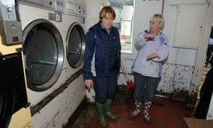 Environment secretary Caroline Spelmanin  Cornwall after floods