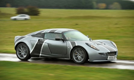 The electric sports car built by the green energy company Ecotricity