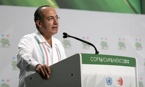Cancun COP16 : Felipe Calderon at the opening of the United Nations climate change conference