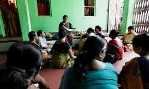 MDG: Indian sex workers attend a class about HIV/AIDS
