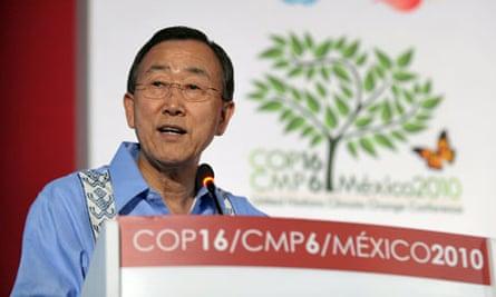 Cancun COP16 : United Nations Secretary General, Ban Ki-moon