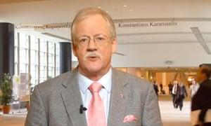 Climate change denier Conservative Roger Helmer East Midlands MEP