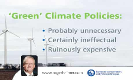One of the postcard from Climate change denier Conservative Roger Helmer East Midlands MEP