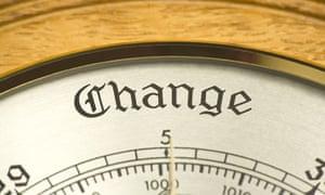Climate change new survey : Barometer showing change