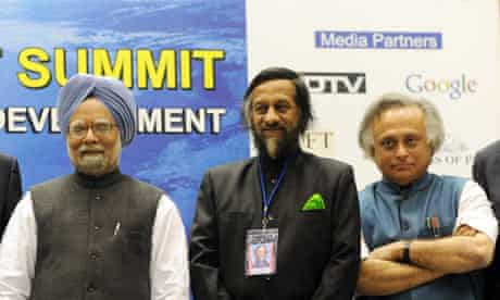 Manmohan Singh, Rajendra Pachauri, Jairam Ramesh
