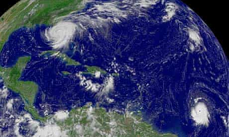 hacked-climate-science-emails :  Hurricane Frances over Florida and Hurricane Ivan