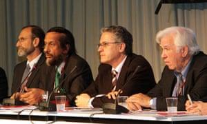 IPCC : Chris Field, Rajendra Pachauri, Thomas Stocker, Vicente Barros