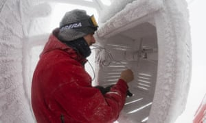 Hacked climate science emails  Scientist Checking Temperatures