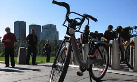 bixi, a public bicycle sharing system, Montreal, Quebec, Canada