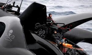 Anti-whaling group Sea Shepherd's trimaran Ady Gil