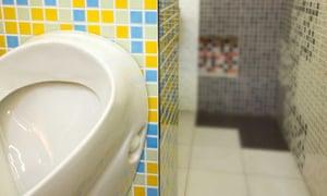 Urinal in restroom