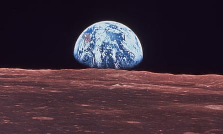 James Lovelock: Apollo 11 view of the Earth rising over the surface of the moon