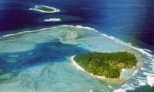Middle Brother Island in Chagos Archipelago