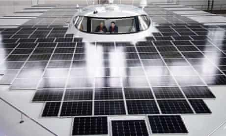 the bridge of the solar boat  PlanetSolar