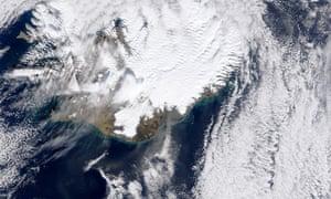 Eyjafjallajökull Volcano eruption at Fimmvörduháls in southern Iceland