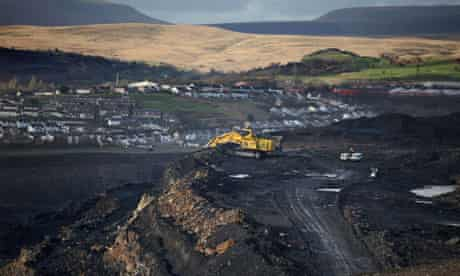 Ffoss y Fran Open Cast Coal mine