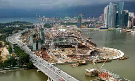 Singapore construction rely on sand from neighbours countries like Cambodia