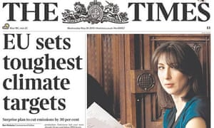 The Times newspaper front page